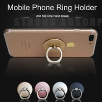 Wholesale Gold Ring Pops - Universal 180 Degree Finger Ring Mobile Phone Grip Stand Holder For iPhone Samsung Huawei Metal Pop Phone Mount Stand