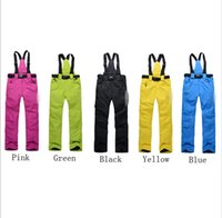 Wholesale Womens Winter Sports Pants - Wholesale- New arrival 2014 top quality famous brand outdoor sport ski pants womens winter pants Mens snowboard suspenders pants