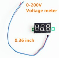 Wholesale Three Digits Voltmeter - 20pcs lot 0.36 inch Digital Voltmeter Three wires 3 digit dc 0-200V Voltage Panel Meter tester Display led Color red