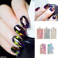 Wholesale Transfer Paper Nail - Wholesale- Hot 1Pc Shiny Laser Nail Foils Stickers Holographic Foils Nail Art Transfer Sticker Paper # 23540