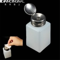 Wholesale Pump Dispenser For Nail - Wholesale- Pro New Empty 200 ml Pump Dispenser For Nail Art Polish Remover Makeup Tool Cleaner Plastic Bottle Free Shipping