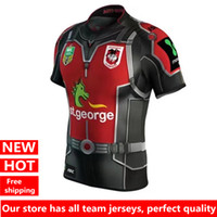 Wholesale Marvel Shipping - DHL free shipping Hot sales St George Dragons 2017 Marvel Ant Man Jersey Rugby Jerseys Shirts Special Edition S-3XL