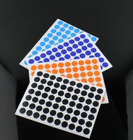 Wholesale Color Coding Labels - Wholesale- 2016 280 Round Circle Color Coded Self Adhesive Label Dot Sticker 1cm Inventory Code