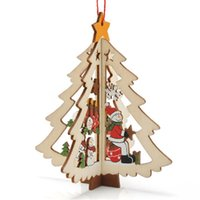 ingrosso luci blu icicles-Natale intagliato in legno 3D appeso puntelli vacanza festa di natale decorazione della casa del fumetto creativo decori prezzo di fabbrica diretto vendita calda