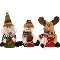 высокие декоративные изделия оптовых-Wholesale- Christmas Gift Candy Bag Tree Decor Ornaments Xmas Decor Santa Claus Snowman Reindeer YL873673