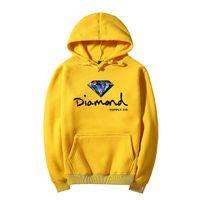 Wholesale Diamonds Fleece - 2017 New Style Lettering and diamond print Men hoodie women street fleece warm sweatshirt winter autumn fashion pullover
