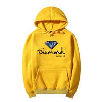 neue hoodie-styles großhandel-Neue Art Beschriftung und Diamantdruck Männer Hoodie Frauen Straße Fleece warme Sweatshirt Winter Herbstmode Pullover