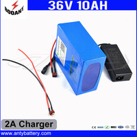 Wholesale 36v Lithium Battery - Electric Bicycle Battery 36V 10Ah Use 18650 Cell With 2A Charger Lithium Rechargeable Battery 36V Built-in 30A BMS Free Shipping