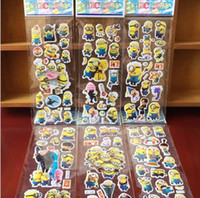 Wholesale Kids Sticker Sheet Car - 100 Sheets lot Cartoon poke pikachu mon Puffy Stickers Kids Classic Toy 3D Anime Stickers for Children Kids Toy Gift Toy100sheets lot 3D Car