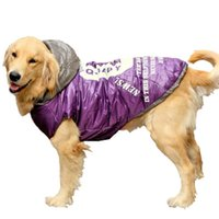 Wholesale Thick Winter Dog Coats - New Thick Golden Retriever Large Big Dog Apparel Clothes Warm and Windproof Coat Jacket