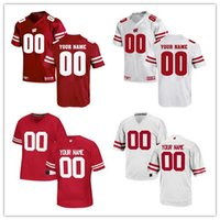 Wholesale Badger Football Jerseys - Custom Mens Wisconsin Badgers College Football Limited White Red Personalized Stitched Any Name Any Number 16 25 99 #23 Taylor Jerseys S-3XL