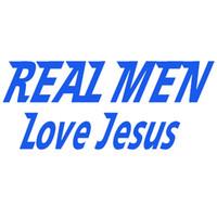 Wholesale Real Bumper - Wholesale 10pcs lot Real Men Love Jesus Devout and Sincere Car Sticker for Bumper SUV Door Kayak Laptop Motorcycle Home Decor Vinyl Decal