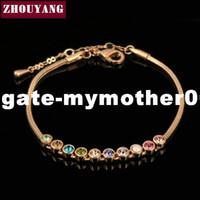Wholesale dhgate bracelets lobster for sale - Group buy dhgate Top Quality Multicolour Exquisite ball Rose Gold Color Bracelet Austrian Crystals ZYH013 ZYH011 ZYH012