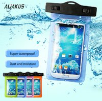 Wholesale Smart Phone Pocket - For iphone 6s 7 plus samsung case PVC waterproof bag 3.5 ~ 5.5 inch smart phone universal