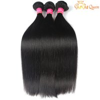 Wholesale 18 inch hair extentions resale online - 8A Brazilian Hair Straight Human Hair Weave Virgin Hair Bundles Unprocessed Brazilian Peruvian Indian Malaysian Straight Extentions