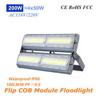 Alta Potência 200W Flip COB Ultrathin Projectores 20000lm AC110V 220V Módulo LED Cast Light IP66 para Tunnel Gas Station e Iluminação Exterior
