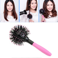 Round Brush All Hair Types Women Wholesale- Hot 2017 New 3D Round Hair Extension Brushes Comb Salon Styling Magic Detangling Hairbrush Beauty Tool Free shipping Cheap Z1