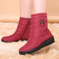 Wholesale Wedge Army Boots - Snow Boots 2017 Brand Women Winter Boots Mother Shoes Antiskid Waterproof Flexible Women Fashion Casual Boots Plus Size