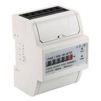 Wholesale power meter digital - 230V 5 (100) A AC power meter SO Electricity KWH Meter DIN Rail LCD BI104