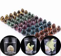 aufblasbare pvc spielwaren für kinder großhandel-Aufblasbarer magischer schlüpfender Dinosaurier addieren Wasser wachsendes Dino Eggs Kind-Kind-Spielzeug 60PCS 3 Art freies Verschiffen
