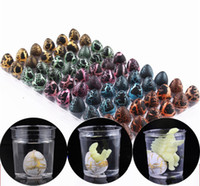Wholesale wholesale dinosaur toys - Inflatable Magic Hatching Dinosaur Add Water Growing Dino Eggs Child Kid Toy 60PCS 3 style free shipping