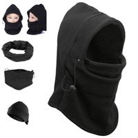 Wholesale Wholesale Fleece Sets - Windproof counter terrorism caps thickened caught wearing earmuffs CS Hat Balaclava face mask scarf winter wind and flying tiger Hat YYA557