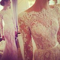 Wholesale Oem Wedding Dresses - 2017 OEM inbal dror wedding dresses tulle lace Applique bateau neckline long sleeve sexy open back Plus Size County Bridal gown 12