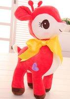 Wholesale Cute Giraffe Stuff - 2017NEWsuper cute 28cm colorful love deer giraffe plush toy doll, sika deer plush deer stuffed dolls valentine's day gift