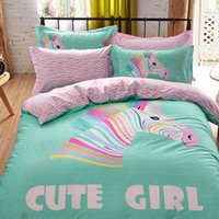 Wholesale Twin Size Colorful Bedding - Wholesale-3D Bedding Sets Queen size,Duvet Cover Set Bed Sheet,Reactive Print Bedding,Colorful zebra Bed Linens set,bedclothes #HC48
