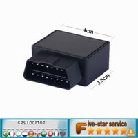 Wholesale two way auto alarm system - Plug Play GPS Tracker Mini Auto OBD Car GSM Vehicle Tracking Device 16 PIN interface small china gps locator with Software & APP