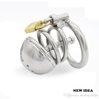 Wholesale Male Chastity Gimp - Stainless steel Male Boundage chastity Short Cage Urethral Tube Gimp GAY Sex Toy Adult Products A087