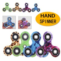Wholesale led fidget spinner online - Kimter Color Leopard Camo Fidget Spinner Hand Spinners EDC Fingertip Spinner Lead Decompression Relieve Anxiety Toys Free DHL B17L