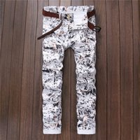 Wholesale Night Club Wear Men - Wholesale-Fashion Mens Printing Flowered Pants Slim Fit Hip Hop Floral Joggers Night Club Wear Stylish Printed Sweatpants For Man Size