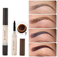 Wholesale Brown Brow Set Wholesale - Professional Waterproof Makeup Eyebrow Set Tint My Brows Gel Long Lasting Grey Brown Henna Eyebrow Tattoo Dye Gel maquillaje