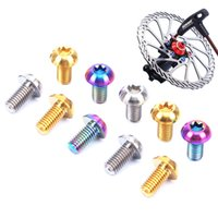 Wholesale Titanium Brake Rotor Bolts - 12PCs Bike Screws M5*10mm T25 Torx Disc Titanium Alloy Brake Rotor Bolts MTB Bicycle Parts Wholesale MN0434
