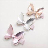 Wholesale Hair Clips Butterflies - Baby Hair clips Butterfly PU Leather Barrettes girl Bow Hair accessories baby gifts Fashion Hotsale Boutique 2017 wholesale Pink