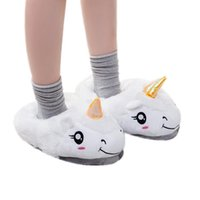 Wholesale Warm Slippers For Women - Plush Unicorn Slippers Household Slippers for Women Winter Warm Soft Cotton Unicorn Indoor Home Slipper Shoes Free Size