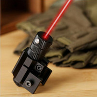 Wholesale red gun laser - Powerful Tactical Mini Red Dot Laser Sight Scope Weaver Picatinny Mount Set for Gun Rifle Pistol Shot Airsoft Riflescope Hunting