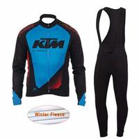 Wholesale pants ktm - ktm Pro Team Cycling Clothing Long sleeves Winter Thermal Fleece MTB bike Ropa Ciclismo Cycle Sportswear Jersey Set bib pants Set K2202