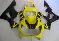 Wholesale black cbr 929 fairing resale online - 3 free gifts New ABS Motorcycle Fairing KIT for HONDA CBR900RR CBR RR CBR900Yellow Black K6