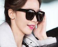 Wholesale Models Girls Korean - Star models Korean sunglasses men polarized light drive round long face glasses myopia