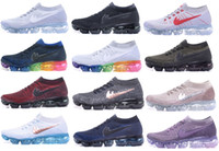 Wholesale Max Sneakers For Men - Newest Vapormax 2018 Running Shoes For Men Women Casual Outdoor Vapor Maxes Black White Shock Hiking Sports Athletic Sneakers Shoes 36-45
