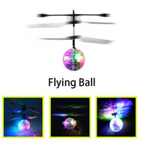 Hot Toy Epoch Air RC Flying Ball Drone Helicopter Ball Built-in Shinning Iluminação LED para crianças Adolescentes Colorful Flyings