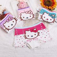 Wholesale Childrens Underwear Wholesale - girl cartoon cotton underwear recycled fiber stickers cartoon childrens underwear, 1 packs of 3, free shipping