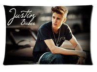 Wholesale Rectangle Zippered Classic Fashion Custom Pillow Cover Printed Pillowcase Durable Justin Bieber Pillow Case P0216