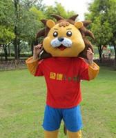 Wholesale Mascot Blue Shirt - T-shirt lions mascot costumes props costumes Halloween free shipping