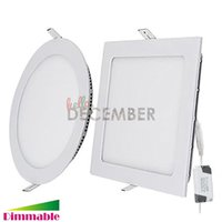 Wholesale 12v Led Ceiling Panel - AC DC 12V 9W 12W 15W 18W 21W 30W Round   Square LED Panel Light Dimmable Recessed LED Ceiling Down Lights