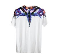 Wholesale Angle Wing Shirt - Mar celo Bur lon T Shirts Men Women Eagle Feather Angle Wings Italy High Quality Hip Hop Fashion Style London MB 3D Tee Shirt Tops