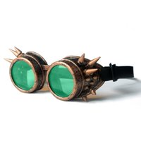 Wholesale Wholesale Welding Greens - Wholesale- Gothic Steampunk Hot Unisex Cool New Men Women Welding Goggles Cosplay Antique Spikes Vintage Victorian Glasses Eyewear Cheap
