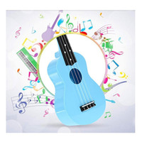 Wholesale Playing Guitar Kids - Wholesale Toy Ukulele 21 Inch Soprano Plastic Hawaiian Guitar for Beginner Student Children Kid Gift Blue and Pink